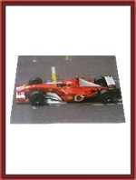 Large Signed F2002 Ferrari Factory Poster