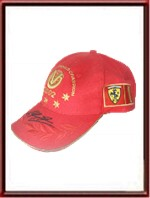 Michael Schumacher signed 2002 World Champion cap - Gold
