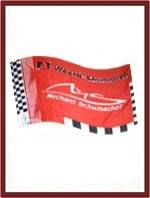 Michael Schumacher Racing Flag