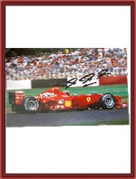 Wide Signed F1-2000 Ferrari Factory Poster